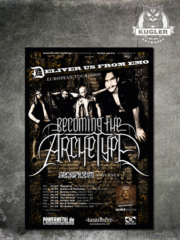 Tour-Poster // BECOMING THE ARCHETYPE
